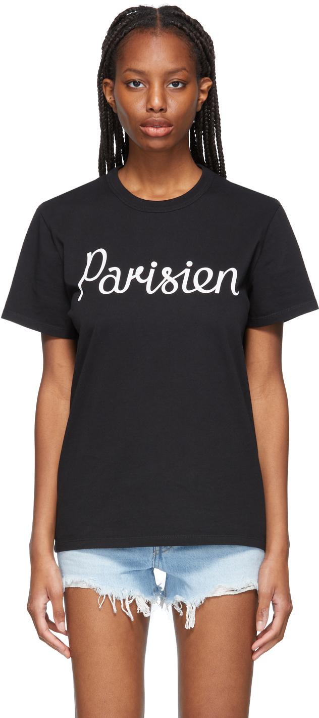 Maison Kitsuné 黑色 Parisien Classic T 恤