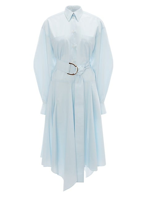 Pleated Belted Shirtdress