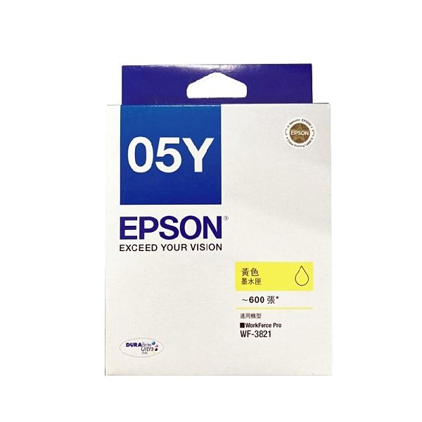 EPSON T05Y450 T05Y 黃 原廠墨水匣盒裝 WF-3821