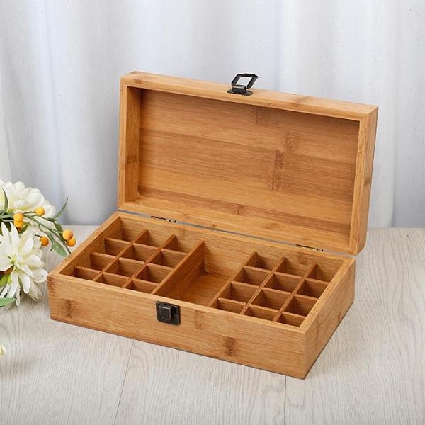 精油收納箱 多特瑞天然竹木24 1格精油收納木盒 精油盒5ml20ml精油瓶盒 風馳