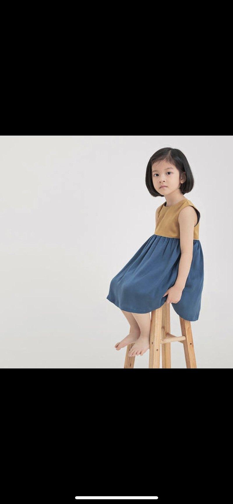 薑黃/普魯藍 連衣裙