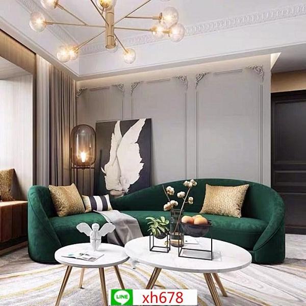 北歐會所多人弧形沙發現代美容院異形沙發設計師樣板房布沙發【頁面價格是訂金價格】