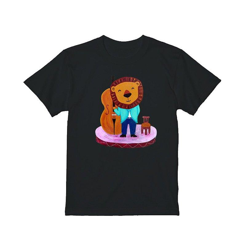 第二代kami短袖中性純棉T恤 / 大提琴獅