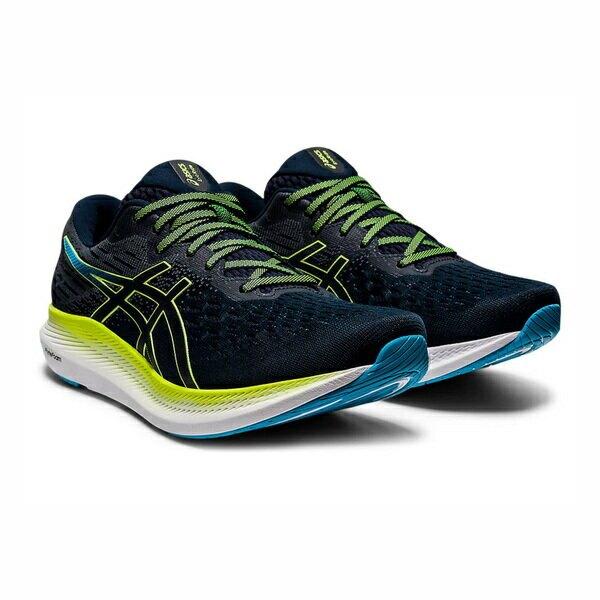 Asics Evoride 2 [1011B017-401] 男鞋 慢跑 運動 休閒 輕量 支撐 緩衝 彈力 深藍 螢黃
