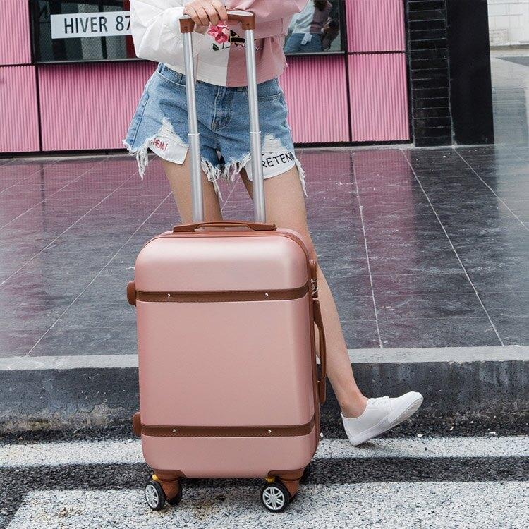 韓版行李箱小清新24拉桿箱萬向輪女男學生密碼箱20寸28旅行箱皮箱