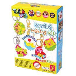 《 小康軒 》Think-doh 矽膠黏土  鑰匙圈創意組 東喬精品百貨