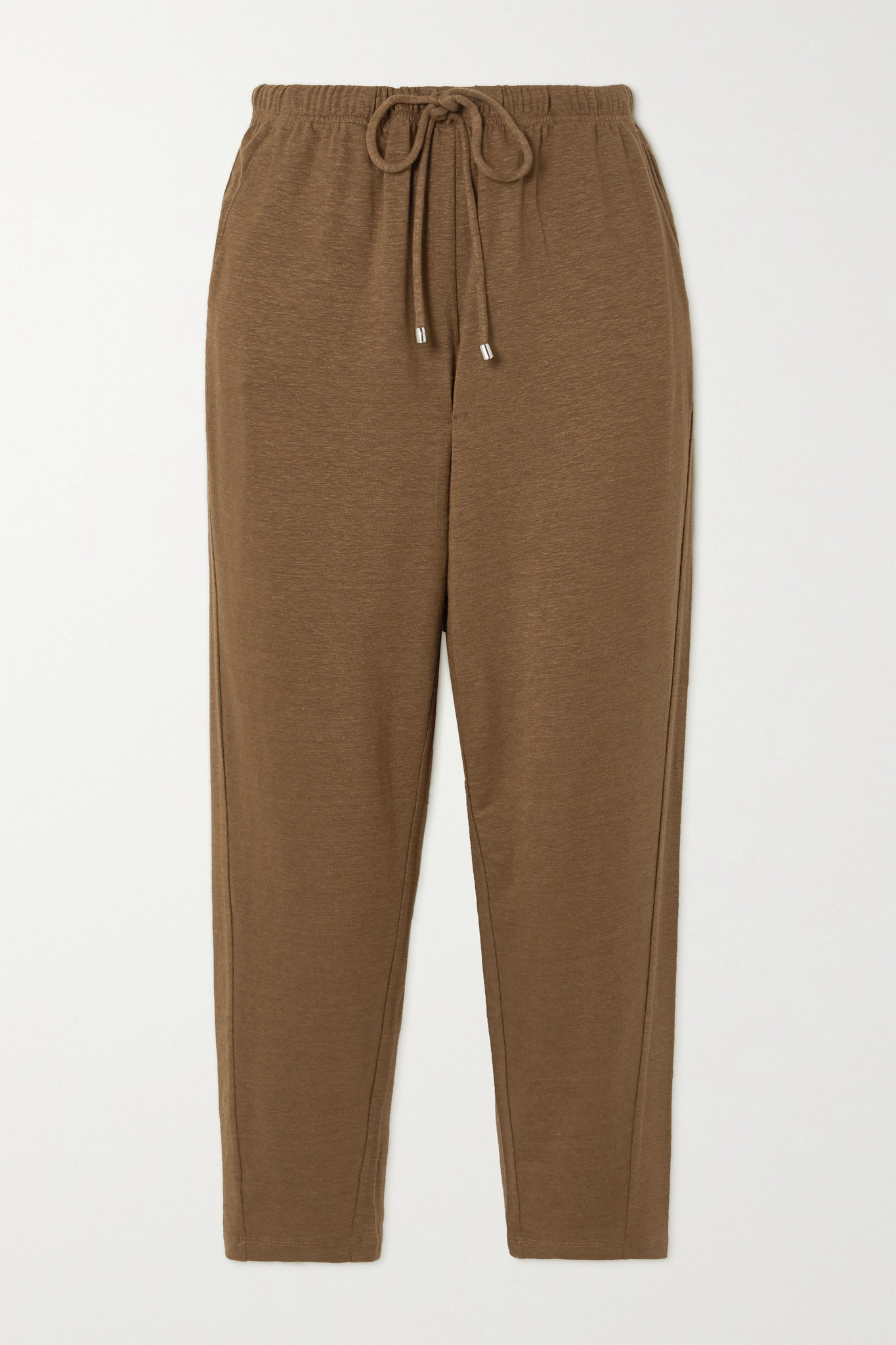 MAX MARA - + Leisure Cristin Stretch-linen Track Pants - Brown - small