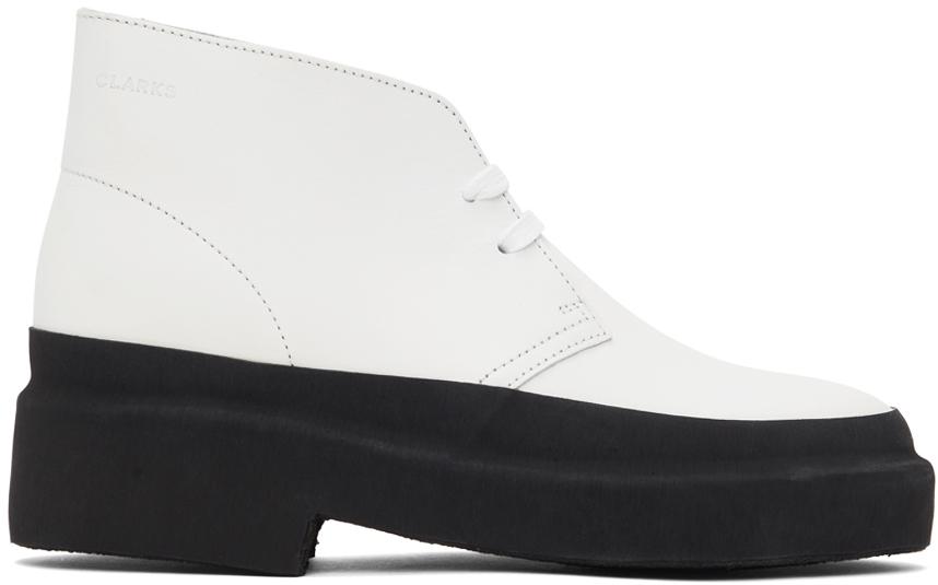Clarks Originals 白色 Galosh 沙漠靴