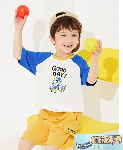男童短袖T恤兒童上衣夏季童裝寶寶純棉【風鈴之家】