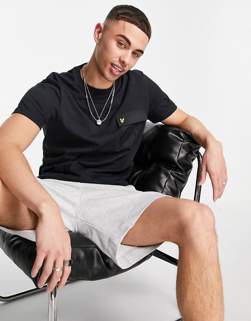 Lyle & Scott nylon pocket t-shirt-Black