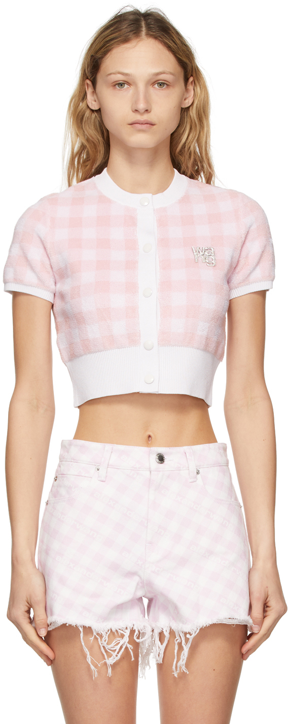 alexanderwang.t 粉色 & 白色嘉顿格开衫