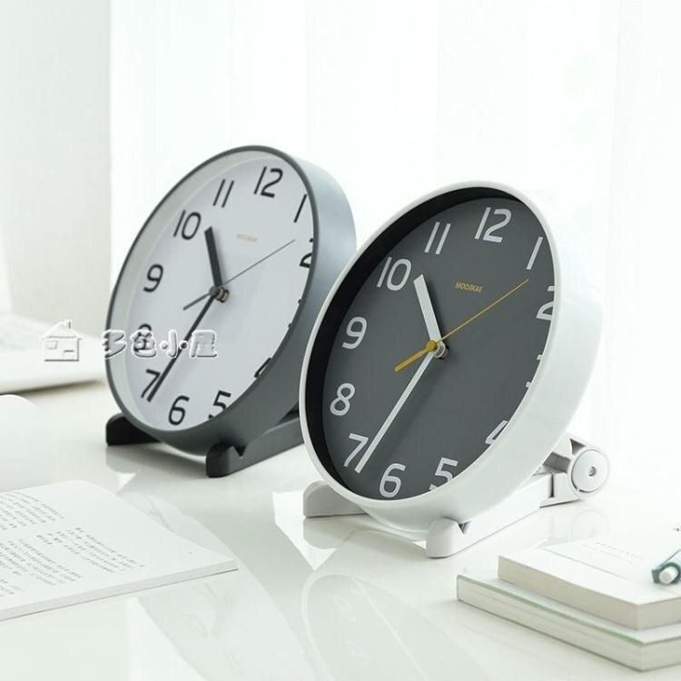 台鐘客廳座鐘台式鐘錶擺件歐式創意台鐘臥室擺鐘靜音時鐘桌面小掛鐘  快速出貨