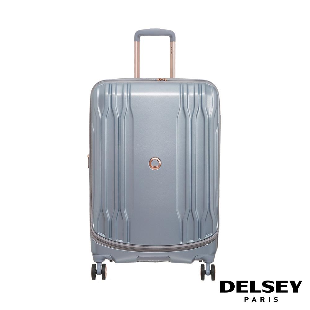 【DELSEY】法國大使 ECLIPSE DLX-25吋旅行箱-銀色 00208082011