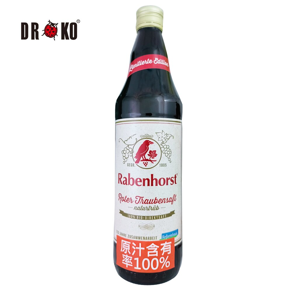 DROKO德逸 (箱購)德國認証紅葡萄原汁x6入 淨重:750mlx6入