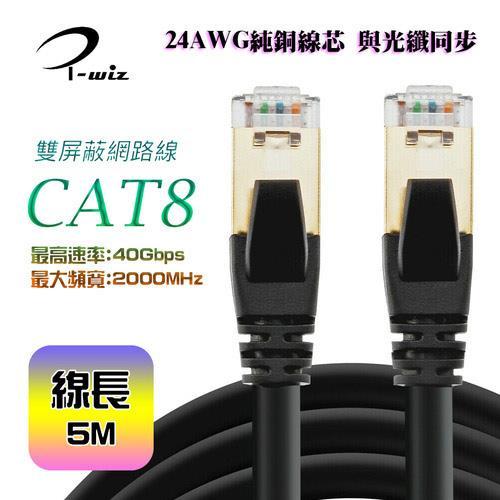 i-wiz CAT.8 S/FTP 超高速網路線 5M