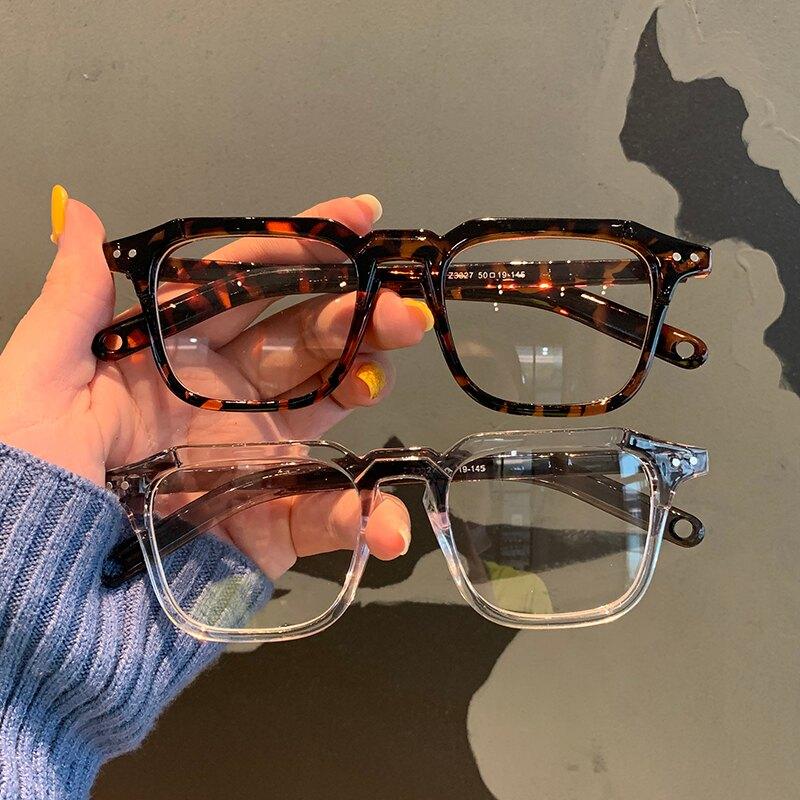 眼鏡框 ins超火小紅書同款小方框黑色粗框 2020新款可配防藍光眼鏡架 【韓尚優品】