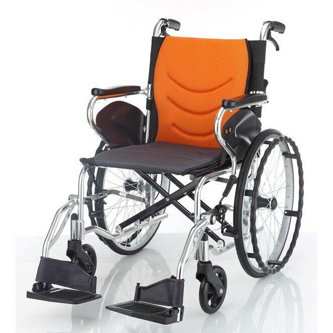 《好禮4選2》均佳機械式輪椅-鋁合金(大輪)JW-450(綠色)(可代辦長照補助款申請)JW450
