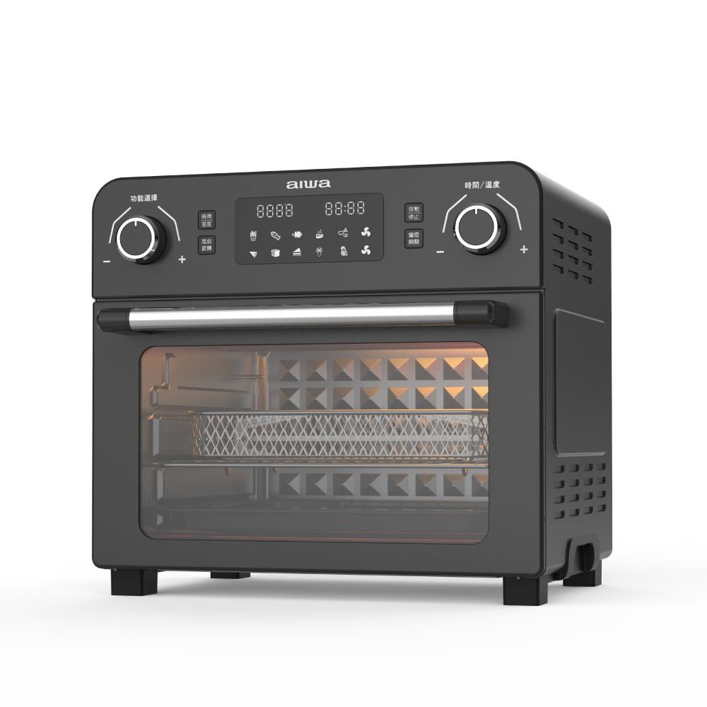 【AIWA愛華】23公升3D立體循環氣炸烤箱-黑《WUZ屋子》