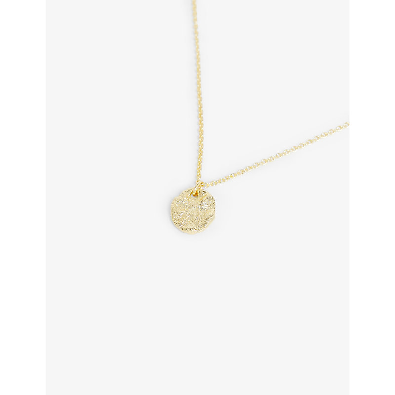 Mesra yellow gold-plated brass pendant necklace