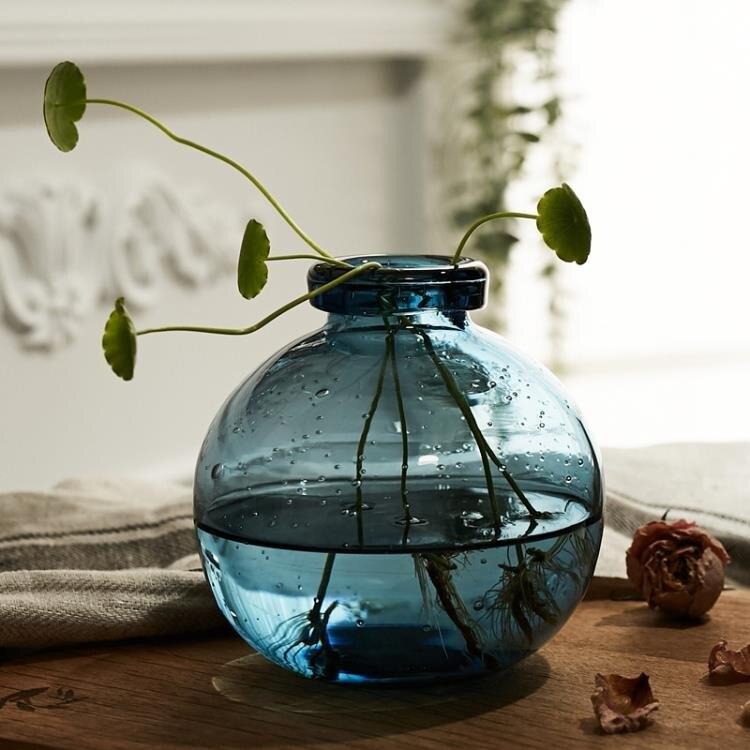 清新復古藝術花瓶 創意玻璃ins花器 客廳鮮花插花水培小花瓶擺件 快速出貨