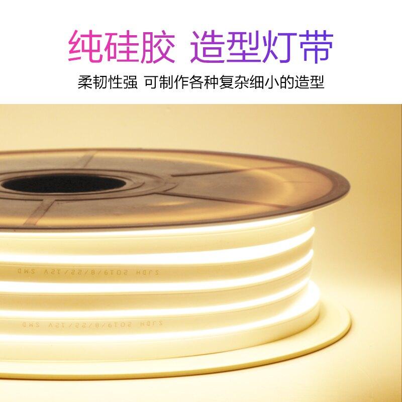 led霓虹燈 led硅膠隨意剪軟燈帶 招牌發光字12V霓虹柔性做字彩色冷光細燈條『XY20916』