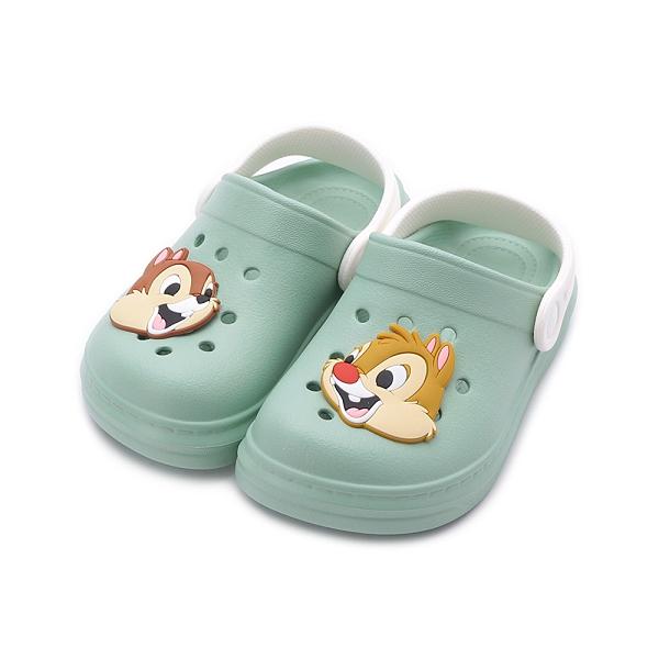 DISNEY 奇奇蒂蒂造型園丁鞋 綠 A20181 中小童鞋