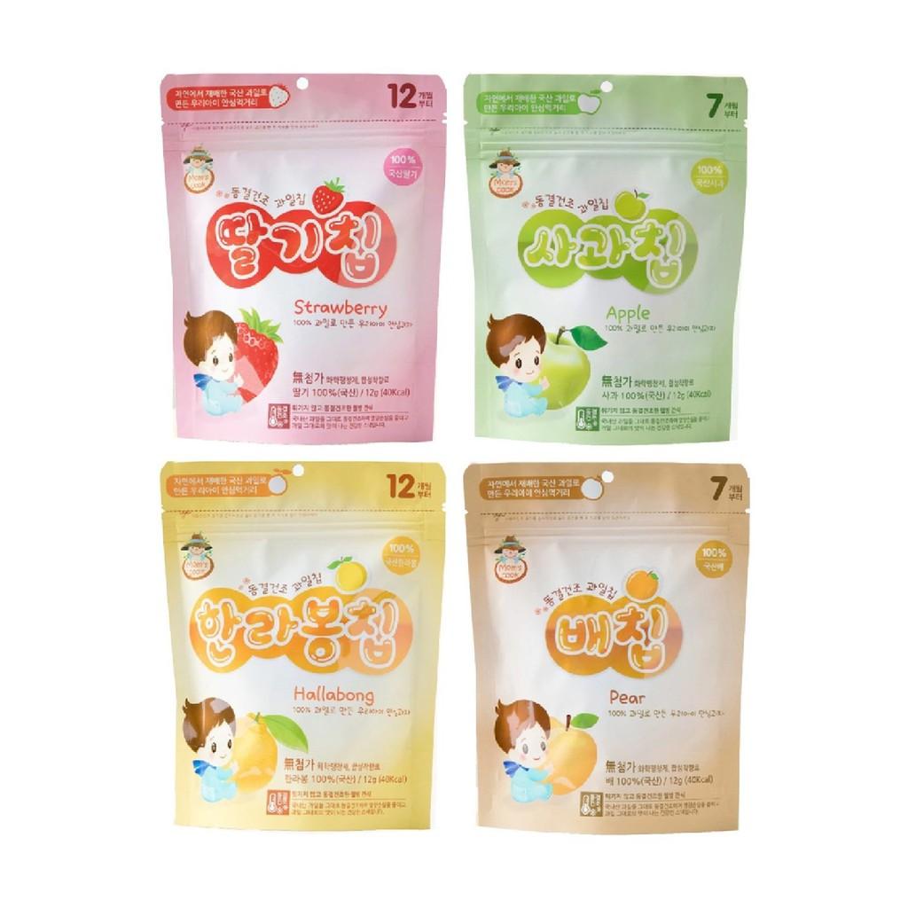 韓國 韓爸田園日記 寶寶乾水果片 -4種口味