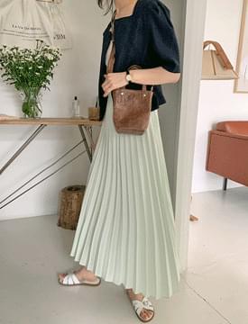 韓國空運 - Dorothy pleated banding skirt 裙子