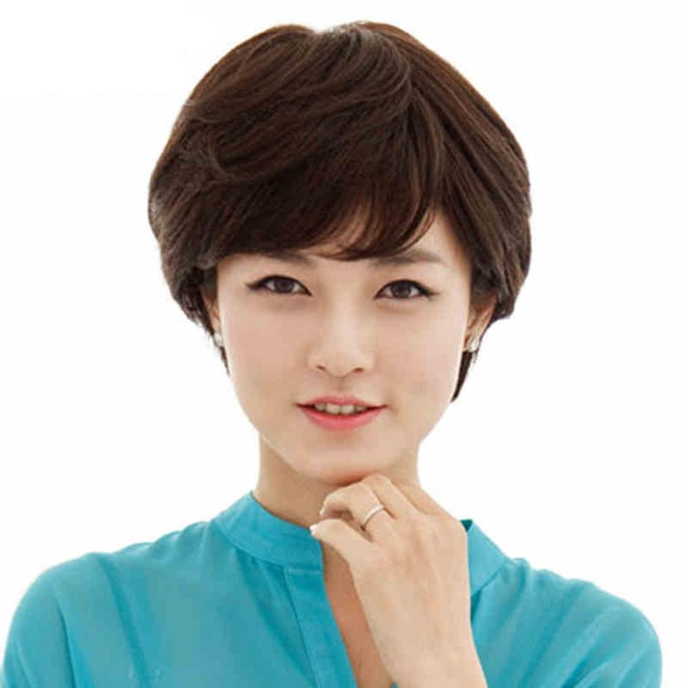 女假髮整頂真髮絲-蓬鬆短捲髮自然舒適美髮用品2色73vc4【巴黎精品】