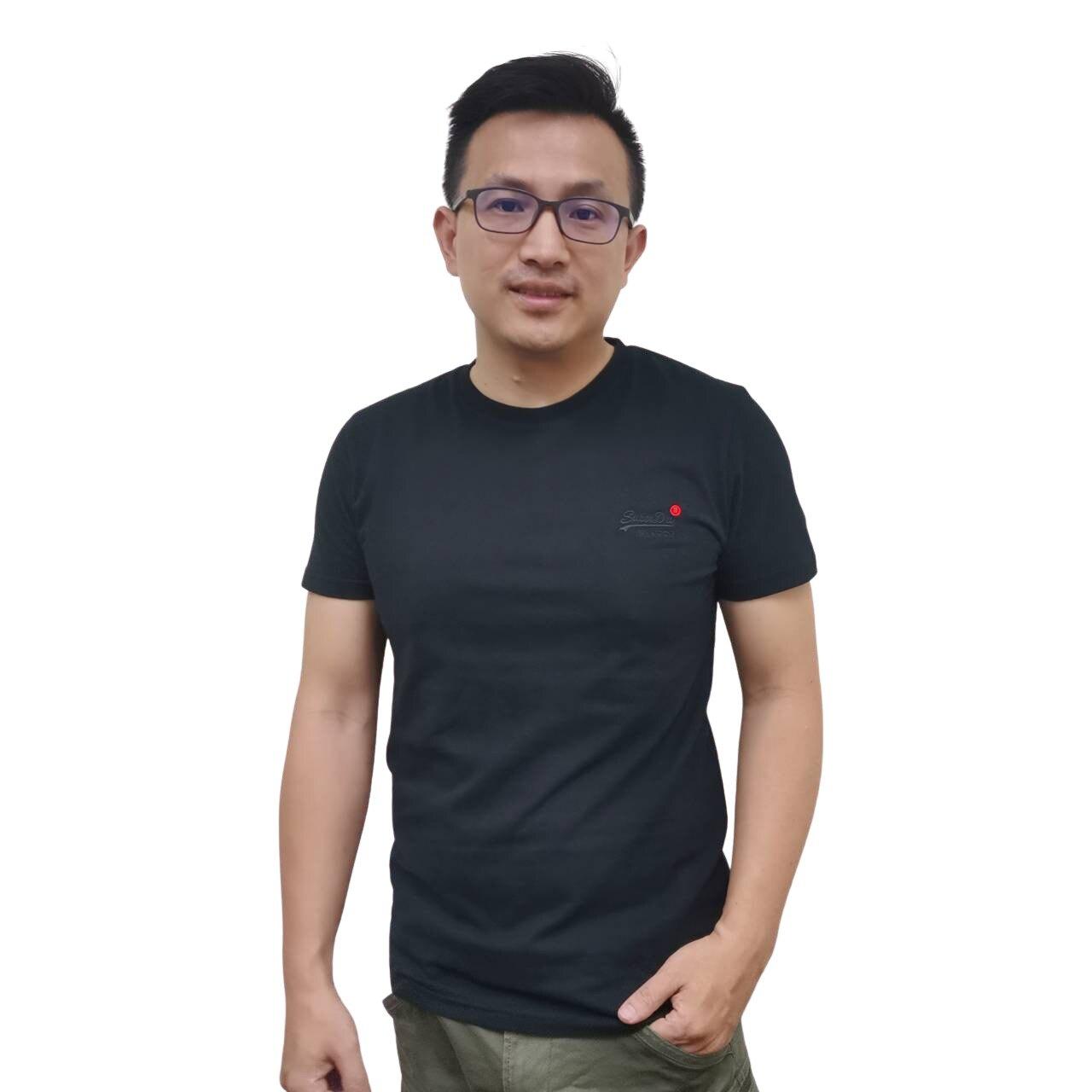 Superdry 冒險魂 極度乾燥 新款男版 圓領 短袖T恤 熱銷黑色素T  100%有機棉 材質柔軟 可搭情侶裝