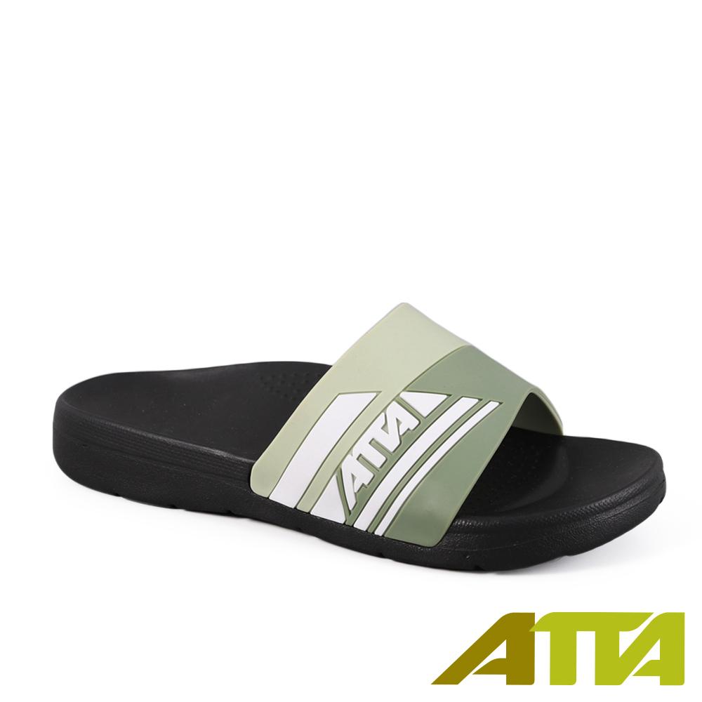 ATTA運動風圖紋室外拖鞋-綠
