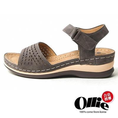 Aviator韓國空運-寬帶造型舒壓加分魔鬼沾厚底楔型涼拖鞋-咖-OLLIE預購+現貨