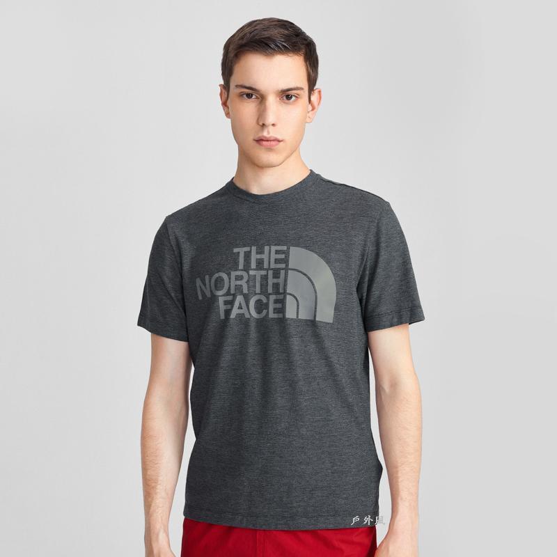 The North Face 男 吸濕排汗大LOGO短袖T恤