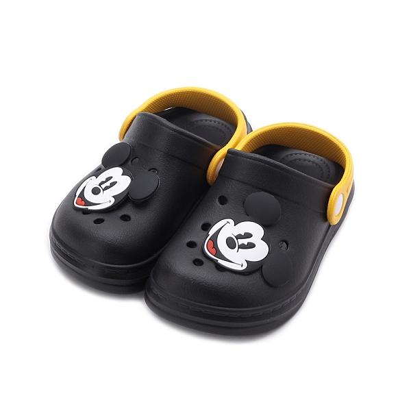 DISNEY 米奇造型園丁鞋 黑 120178 中小童鞋