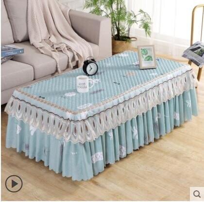 茶幾桌布網紅客廳套罩歐式布藝茶幾布北歐蕾絲現代簡約電視柜桌布 NMS