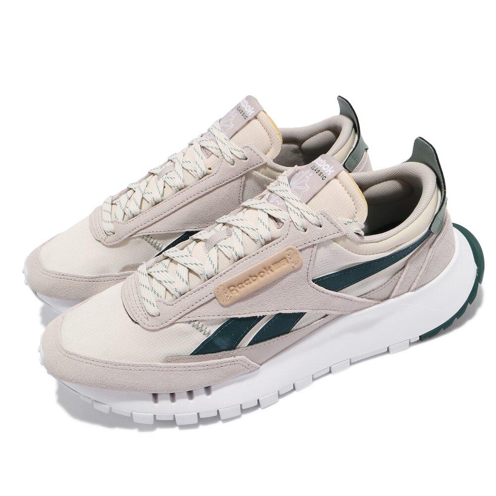 REEBOK 休閒鞋 CL Legacy 運動 男女鞋 基本款 簡約 舒適 球鞋 情侶穿搭 灰 綠 [FZ2924]