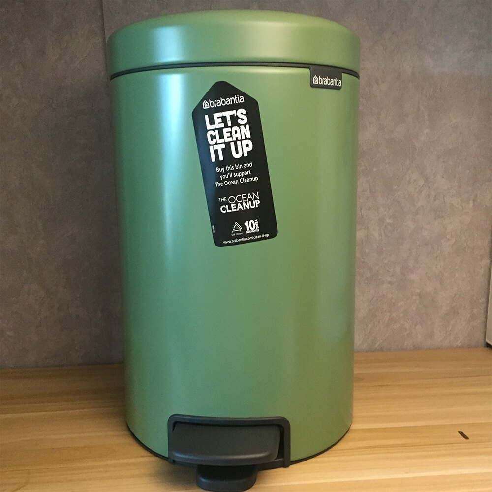 Brabantia Newicon 腳踏式時尚環保垃圾桶 12L 文青綠【福利品】