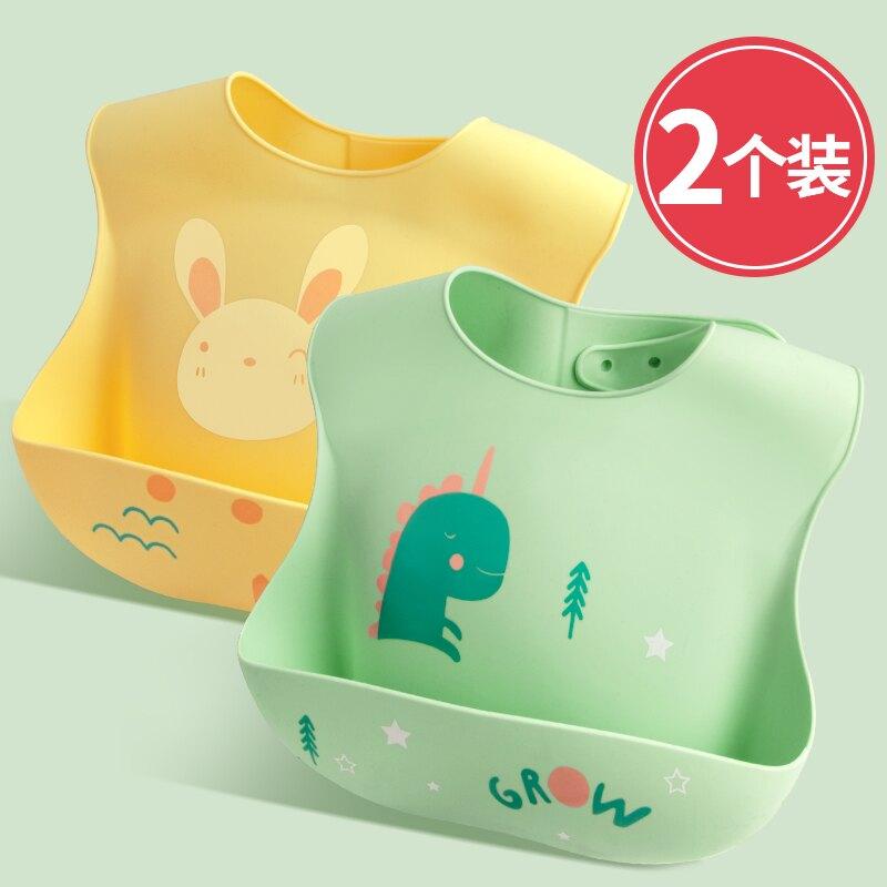 圍兜 寶寶吃飯圍兜兒童飯兜防水超軟硅膠兒童口水圍嘴小孩立體超大食飯 bw2982