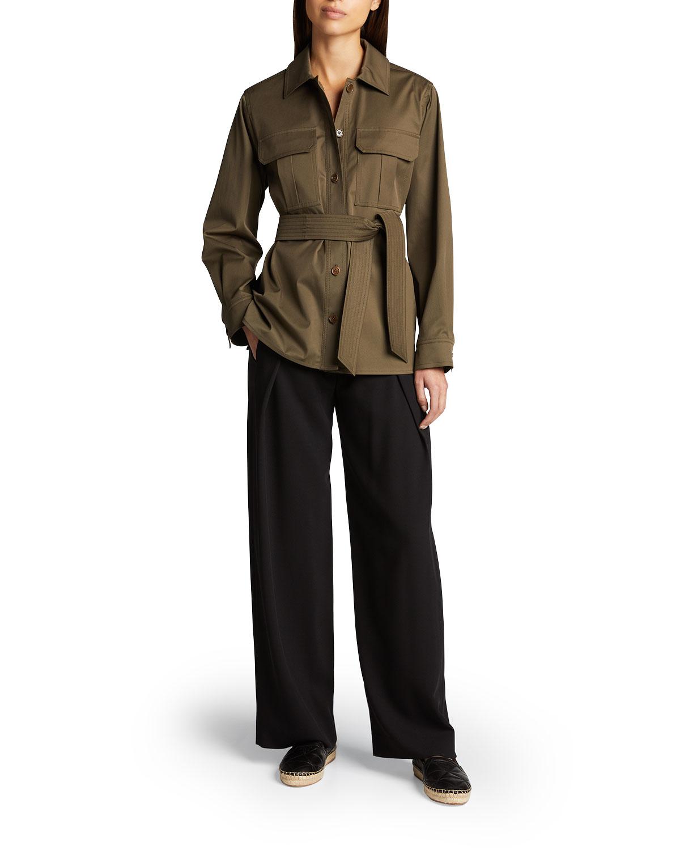 Renon Belted Twill Safari Jacket