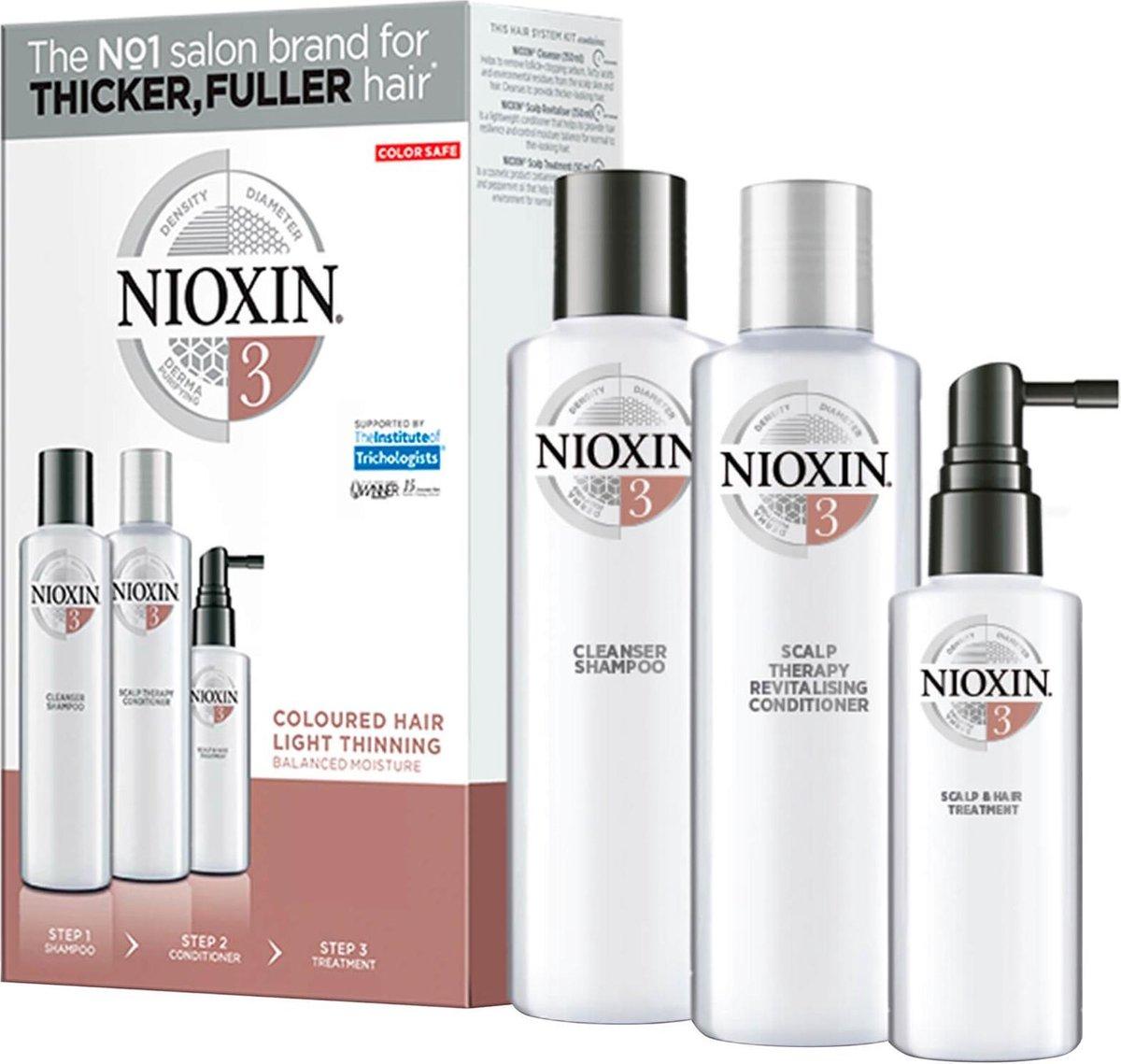 NIOXIN 丽康丝 护发三部曲试用套装 3 (清洁洗发水150ml+头皮焕活护发素150ml+头皮和头发免洗喷雾50ml)