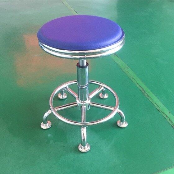 升降小圓凳旋轉吧台椅簡約前台椅美容凳收銀大工椅實驗室工作凳子【快速出貨】