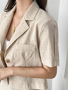 韓國空運 - Mary Yu Linen JK 夾克