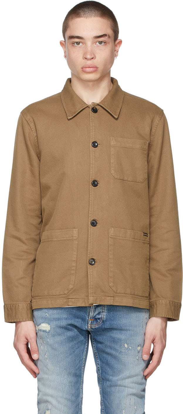 Nudie Jeans 棕色 Barney 有机棉工装夹克
