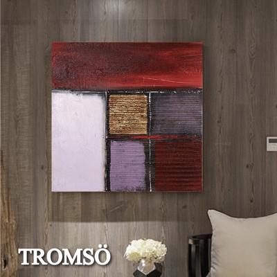 TROMSO 時尚無框畫抽象藝術-玉環極致W425