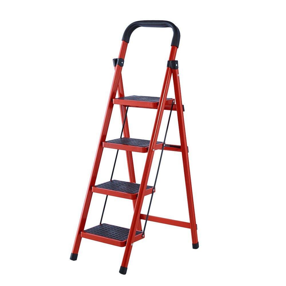 臺灣現貨!鋁梯 摺疊梯 四階梯 樓梯 安全折疊梯 工具梯 家用梯 A字梯 防滑梯 鐵製梯子