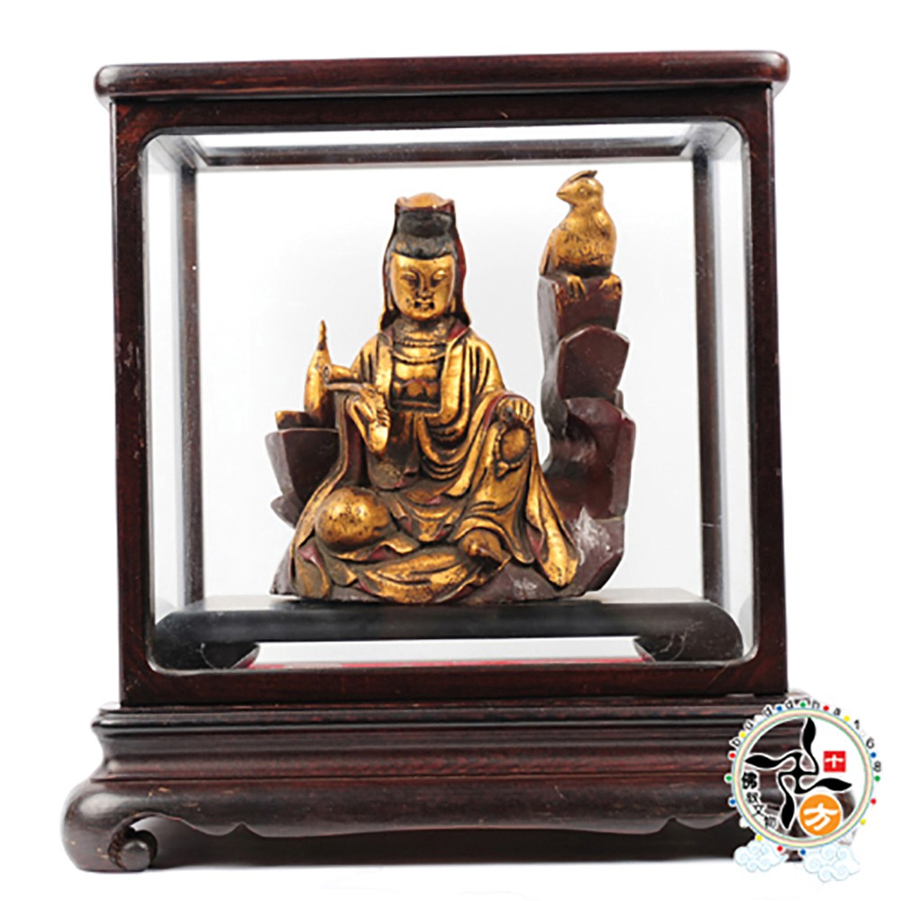 觀音菩薩木雕含高級木框 精品
