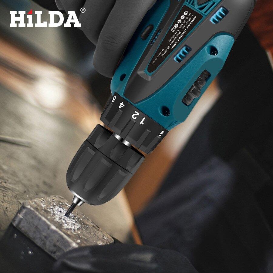 希爾達16.8v無繩螺絲刀電鉆雙速充電鋰電池LED燈2pcs防水手手電鉆 全館八五折