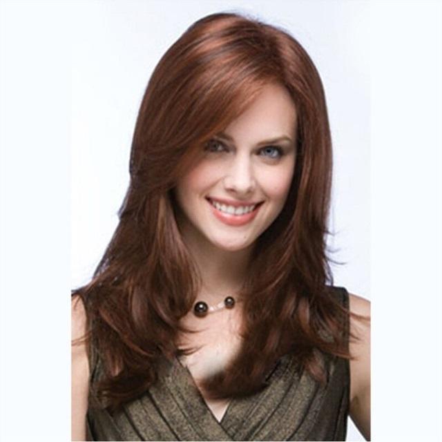 女假髮整頂假髮長假髮-棕色挑染中分捲髮美髮用品流行穿搭配件73vl53【巴黎精品】