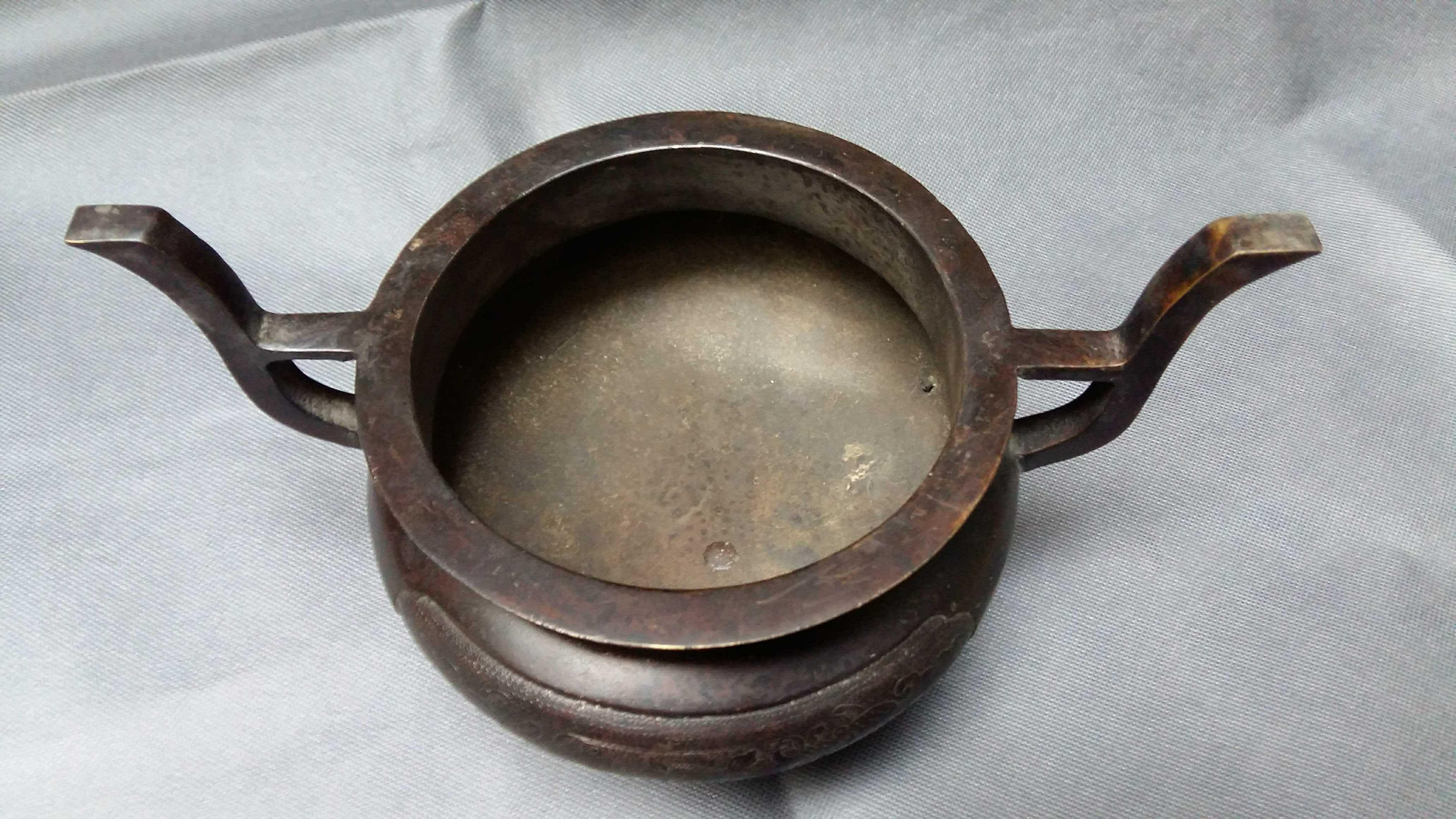 銅香爐 仿古純銅香爐 古玩熱賣 雜項收藏 鑄造工藝品