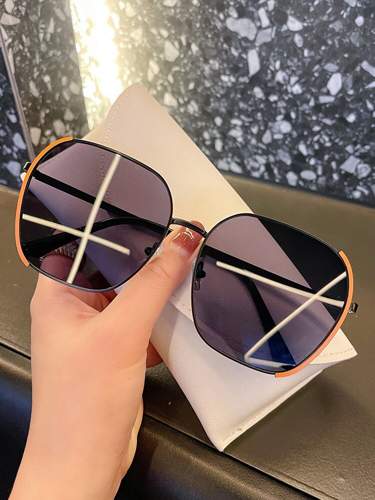 墨鏡 2021年新款太陽眼鏡女時尚韓版潮墨鏡女防紫外線圓臉大臉顯瘦夏季 【韓尚優品】